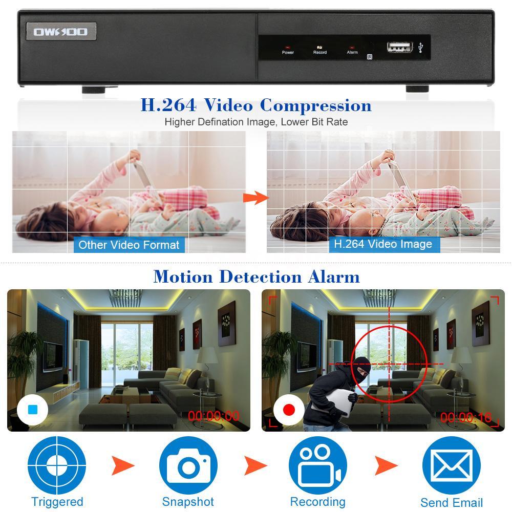 Owsoo 16ch 1080p Nvr 12 Hd 960p Ip Camera Cctv Night View
